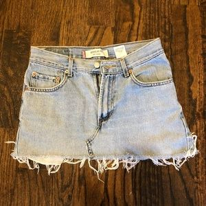 Vintage Levi's Light Wash Denim Mini Skirt
